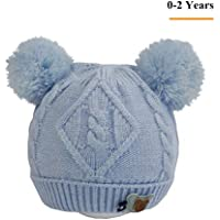 1-2 Year Old Baby Winter Warm Beanie Hat - Lovely Knitted, Warm Lined, Thick Stretchy