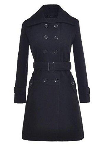 Long Black Swing Coat - 7