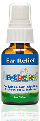 Pet Relief Ear Mites, Natural Ear Relief for Dogs, 30ml