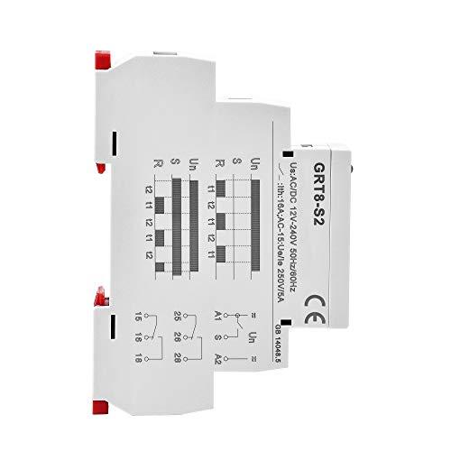 GEYA GRT8-S Asymmetric Cycle Timer SPDT Relay 220V 16A AC//DC12V-240V Electronic Repeat Relay GRT8-S1,AC//DC12V~240V