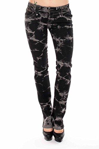 VIRGIN ONLY Women's Slim Fit Low Rise Straight Leg Denim ...