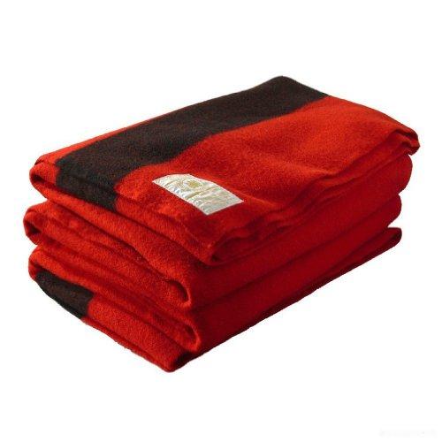 Hudson Bay 8 Point Blanket, Scarlet with Black ()