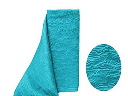 """Turquoise SATIN FABRIC 12/"""" x 10 yards Bolt Crafts Sewing Put-up Wedding Party"""