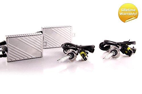 Premium Canbus HID Kit, Slim AC Ballasts w/Hi-Output Bulbs H7, 6500K ()