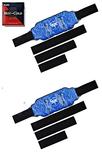 Universal Thigh Brace Set (Ice Packs for Injuries: Set of 2 Reusable Ice Wrap Hot Pack - for Back Pain Relief, and Knee, Sciatica, Migraine, and, Arthritis, Neck, Shoulder Pain - Hot + Cold Pack Therapy | Dr. Jeff's Authentic)