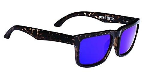 Spy Optic Helm Flat Sunglasses, Smoke Tort/Happy Bronze/Purple Spectra, 57 mm - Spy Bronzo Da Sole