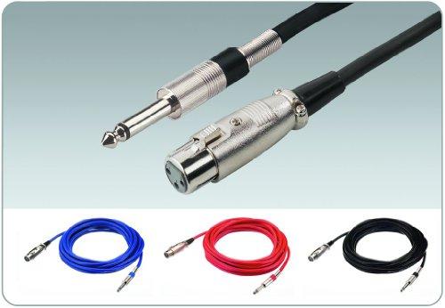 Img Stage Line MMC-600/SW Mikrofonkabel (Klinkenstecker / XLR-Kupplung) 6m schwarz
