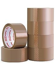 Packatape | pakketplakband bruin | 66m lang & 48mm breed | Ideaal als plakband, pakketband, verpakkingsmateriaal & tape | 6 rollen