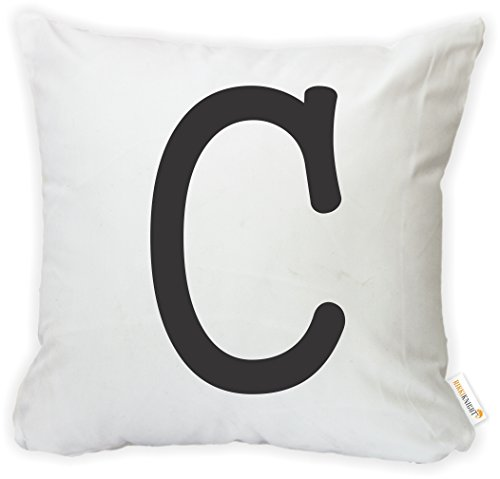 "Rikki Knight ""Bold Letter C Initial Monogram Microfiber Throw Pillow Case Cushion Cover with Hidden Zipper from Rikki Knight"