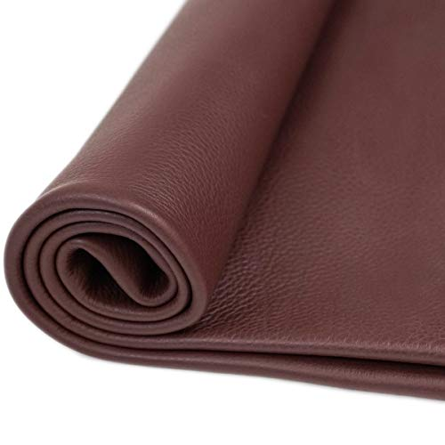 Springfield Leather Company Leather Hides - Cow Skins Various Colors & Sizes (Chocolate Brown, 12x24) ()