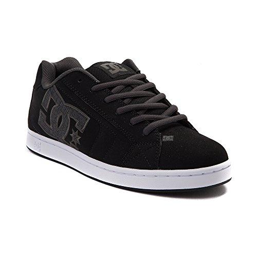 扇動主流ゲージ(ディーシー) DC 靴?シューズ メンズスケートシューズ Mens DC Net SE Skate Shoe Black/Gray ブラック/グレー US 10.5 (28.5cm)