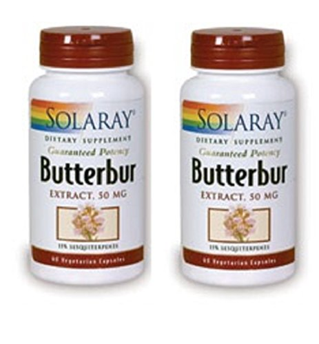 Solaray Butterbur Extract 50 mg 60 Veg caps (Pack of 2) ()