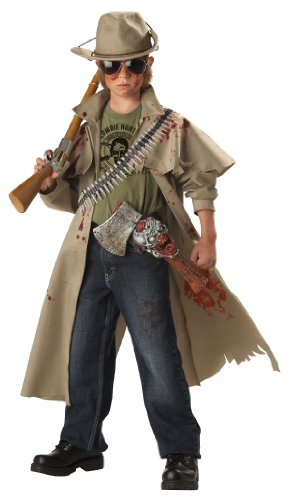 Kids Zombie Halloween (California Costumes Toys Zombie Hunter, Tan, Medium)