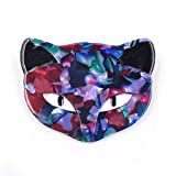 CINDY XIANG Colorful Acrylic Cat Brooches Women Acetate Fiber Cute Animal Brooch Pin Handmade Jewelry Fashion-blue