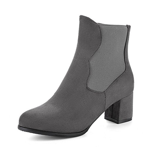 1TO9 Womens Boots Closed-Toe Zip Kitten-Heel Warm Lining Rubber Not_Water_Resistant Road Smooth Leather Urethane Urethane Boots MNS02643 Gray t1KaVK8