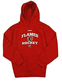 Calgary Flames NHL Reebok Big Boys Red Fleece Pullover Hoodie