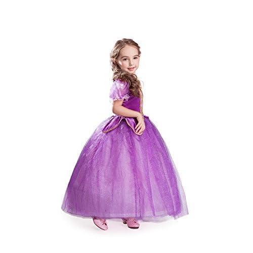 ELSA & ANNA® Filles Reine des Neiges Princesse Partie Costumée Déguisements Robe de Soirée FR-NW11-RAP (5-6 Ans, NW11-RAP)