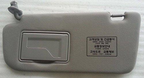 - Kia Motors OEM Genuine 852101G000LX Gray Front Left Driver Inside Sun Visor Assy 1-pc For 2006 ~ 2010 Kia Rio : Pride