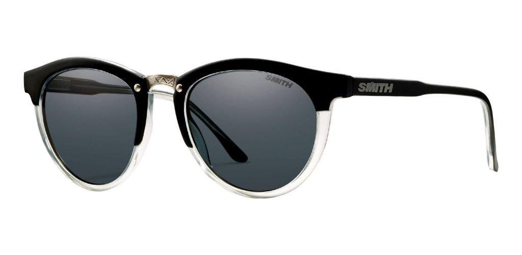 Smith Optics Women's Questa Designer Sunglasses/Eyewear, Matte Black Crystal/Gray, Small/Medium