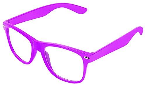 BOOLAVARD ® 4026 Lunettes de soleil modèle Nerd Transparent Violet