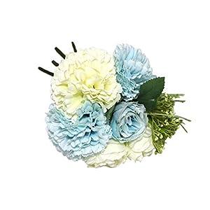 Binwwede Artificial Flowers Carnation Rose Bouquet Plastic Fake Flowers Home Wedding Floral Decor 11