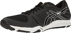 ASICS Men's Fuzex TR Running Shoe, Black/Onyx/Silver, 8 M US