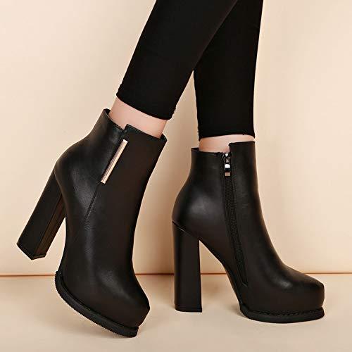 High High High Heels 10 Zentimeter dick mit Frauen Kurze Stiefel. b0ac87