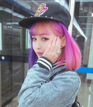 Uniwigs ウィッグ ボブショート 原宿系 コスプレ Lolita グラデーション ピンク紫 ふんわり前髪 フル 専用ネット