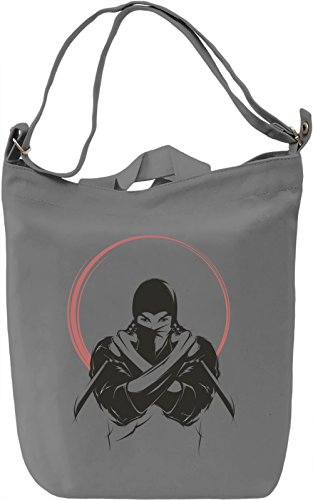 Ninja Borsa Giornaliera Canvas Canvas Day Bag| 100% Premium Cotton Canvas| DTG Printing|