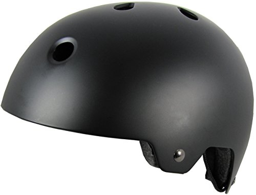 SMS Salvation MX Adult Cycling Bike Helmet Specialized for Men & Women - CPSC Certified Safety Protection (Matte Black, SM/MG)
