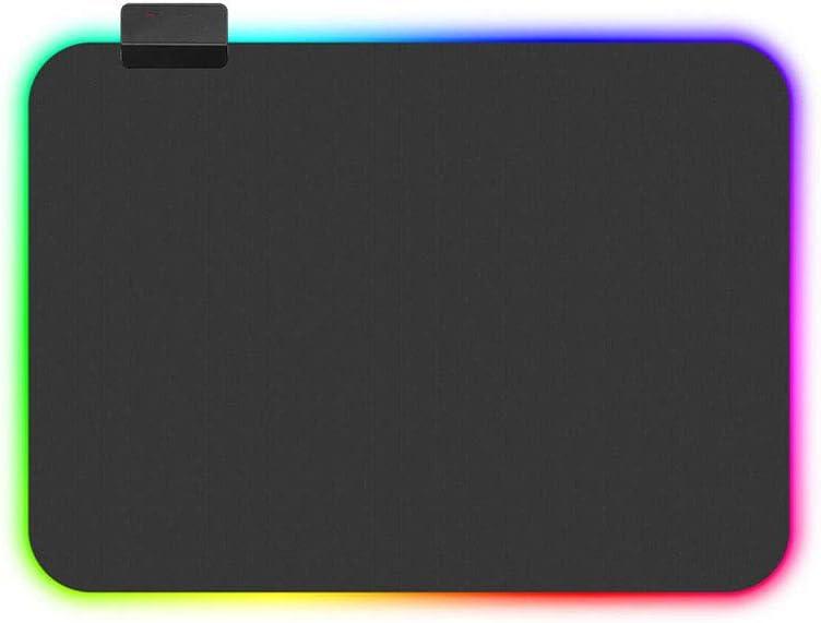 Mouse Pad Pad Non-Slip Waterproof Padded Lighting Lock Colorful LED Medium LED Long RGB Gaming Mouse Rubber Base Computer Keyboard Pad