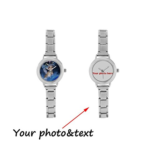 InterestPrint Personalized Custom Gift Women's Italian Charm Casual Wrist Watch with Your Photo or Text