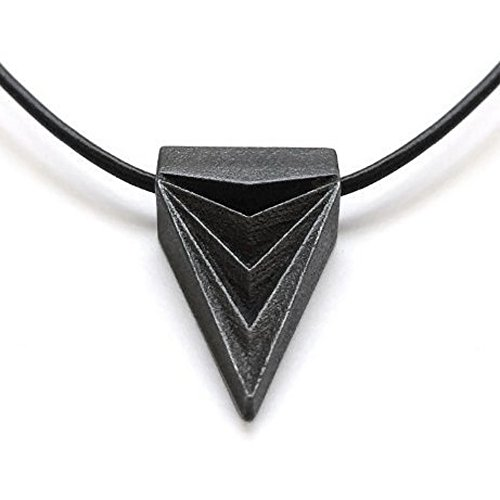 Steel Black Triangle Necklace As Seen on the Vampire Diaries