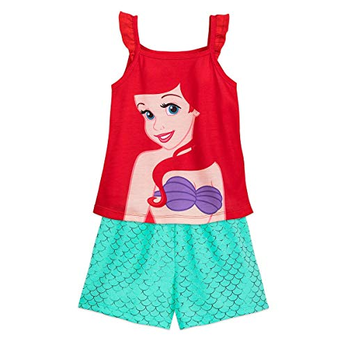 Disney Ariel Short Sleep Set for Girls Size 9/10 Multi