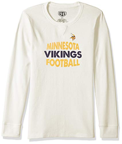 - NFL Minnesota Vikings Female NFL OTS long-sleeve Waffle Distressed, Cream, Large