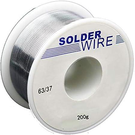 QBody Fil /à souder sans plomb avec c/œur en colophane pour soudure /électrique et bricolage 97Sn-Rosin-0.7Cu-0.3Ag 0,8 mm