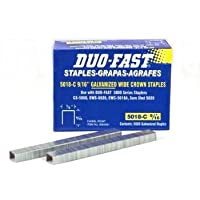 Duo Fast 5018C 20 Gauge Galvanized Staple 1/2-Inch Crown x 9/16-Inch Length, 5000 Pack by Duo-Fast