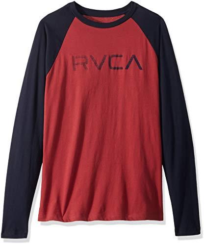 RVCA Men's Big Raglan Long Sleeve T-Shirt, Garnet, M ()