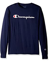 Champion Mens Classic Jersey Long Sleeve Graphic T-Shirt