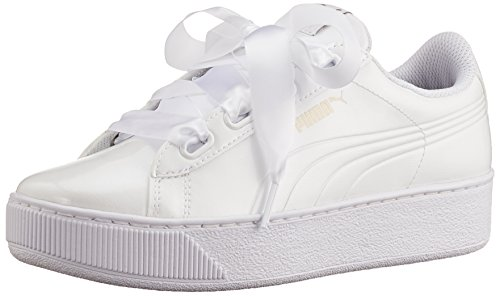 P White Mujer Puma Blanco Platform Zapatillas Vikky Puma 2 White puma para Ribbon x4YtFcPq