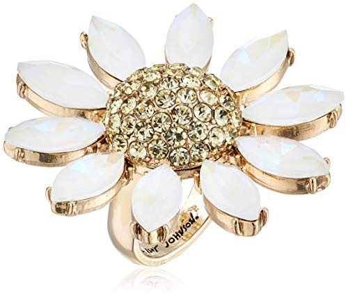 - Betsey Johnson (GBG) Women's Pave Daisy Flower Ring, Yellow, 7.5
