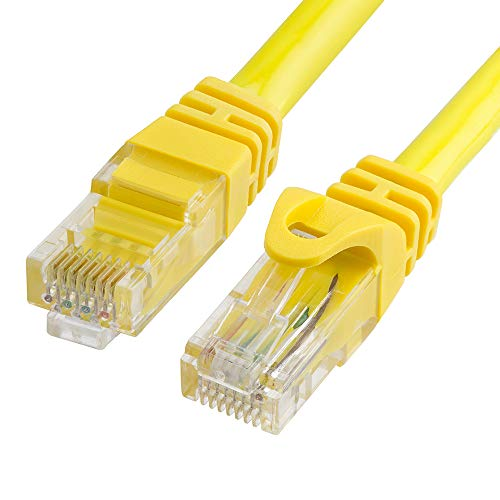 Cmple - CAT 6 500MHz UTP ETHERNET LAN Network Cable -25 FT Yellow