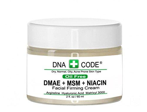 OIL FREE-DMAE+MSM+NIACIN Firming Cream, 100% Pure Hyaluronic Acid, Argireline, Matrixyl 3000