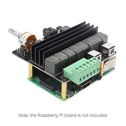 Geekworm Raspberry Pi 4 Model B/3B+/3B HiFi DAC Full-HD Class-D Amplifier Sound Card, X450 DAC+ AMP Audio Expansion Board Raspberry Pi Music Player
