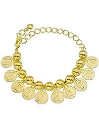 Pulseira 10 Mandamentos de Bolinhas Folheada em Ouro 18k