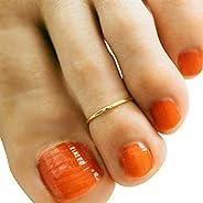 Gold Toe Ring, 14k Gold Filled Toe Ring. Adjustable Toe Ring for Women, Minimalist Toe Ring