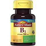 Nature Made Vitamin B1, 100mg, 100 Tablets (Pack of 6)
