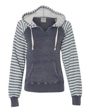 - MV Sport Women's Angel Fleece Sanded Piper Hooded Sweatshirt XL Deep Blue