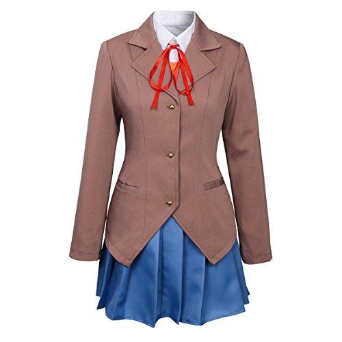 COSJP-Literature-Club-Sayori-Yuri-Monika-Cosplay-Costume-Japanese-Girls-Short-Skirt-School-Uniform