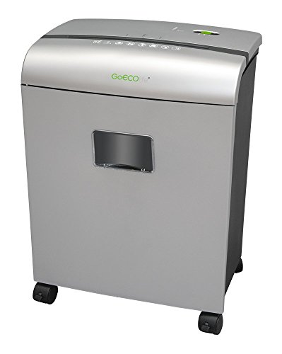 GoECOlife GMW101Pii Limited Edition 10-Sheet High Security Microcut Paper Shredder, Silver